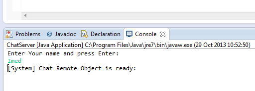 Java RMI Example : Simple Chat Program between Server and Client